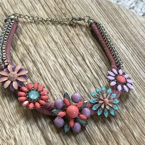 Jewelry - Spring floral statement necklace